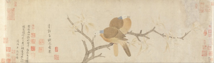 Qian_Xuan_-_Doves_and_Pear_Blossoms_after_Rain_-_Google_Art_Project