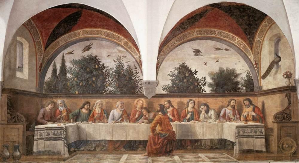 Domenico_ghirlandaio,_cenacolo_di_ognissanti_01, wikimedia org