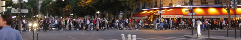 Look at all those roller-skaters!