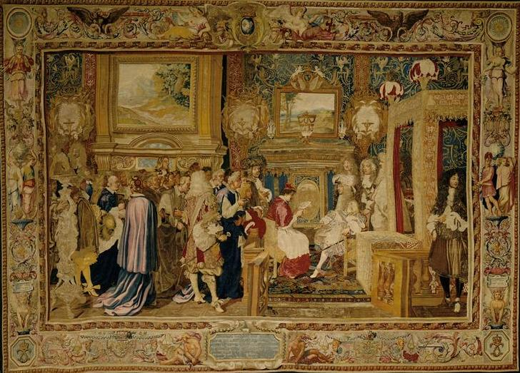 tapisserie-audience-cardinal-chigi-lgat-du-pape