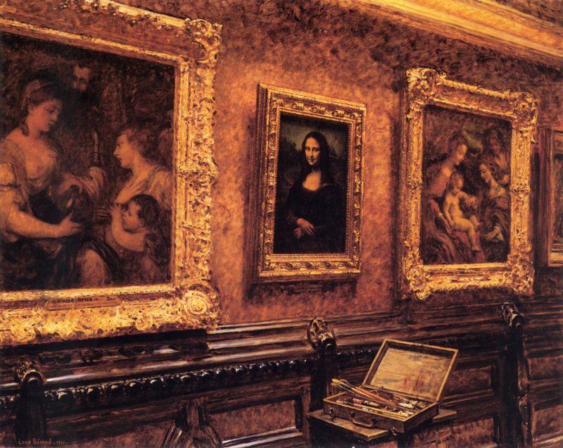 Louis_Beroud_-_Mona_Lisa_au_Louvre_1911