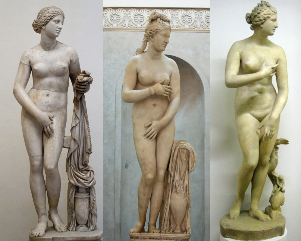 Aphrodite Cnidus, Capitoline Venus, Venus de Medici cast