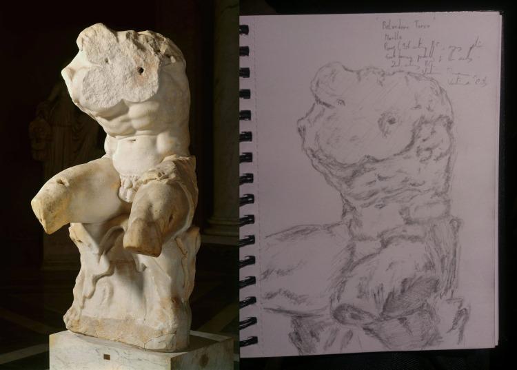 Belvedere Torso sketch