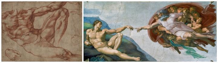 Study for Adam, Creation of Man