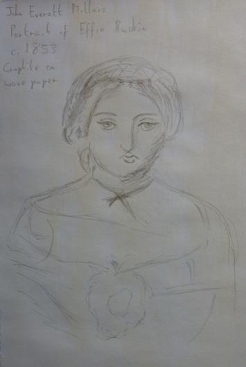 Author's illustration of Millais' Portrait of Effie Ruskin