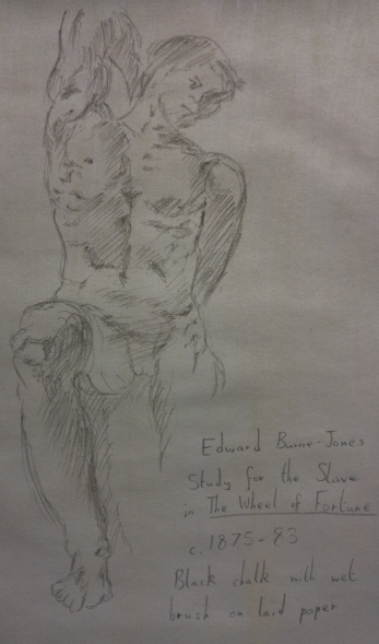 Author's illustration of Burne-Jones' Wheel of Fortune slave