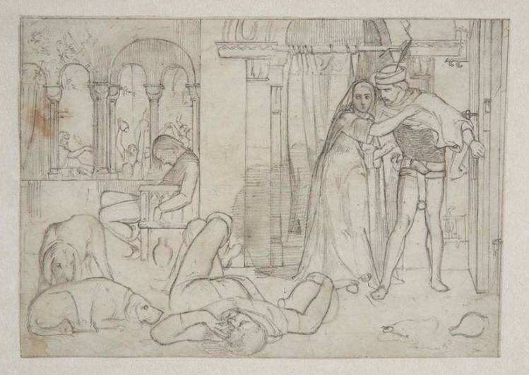 Composition Study for The Flight of Madeline and Porphyro, telegraph co uk