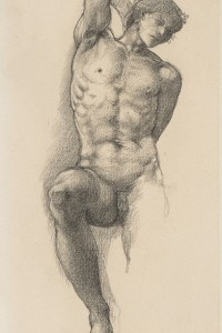 Edward-Burne-Jones-Study-for-the-Slave-in-The-Wheel-of-Fortune-c-1875, wsimag com