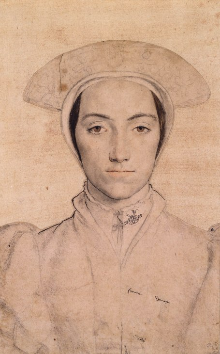 Hans Holbein the Younger, Woman wearing a white headdress, c.1532-43. The Royal Collection, Windsor