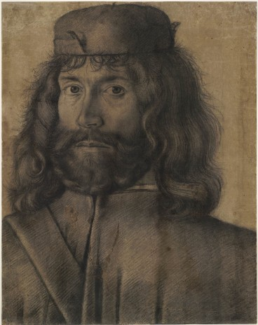 Unknown Venetian artist, Man with shoulder-length hair, c.1500. The British Museum, London