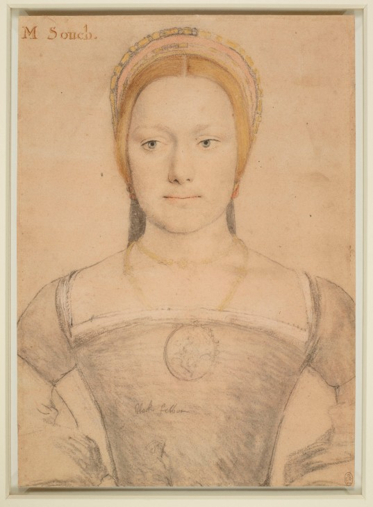 Hans Holbein the Younger, Young woman wearing a French hood, possibly Mary Zouch, c.1533. The Royal Collection, Windsor