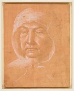 Domenico Ghirlandaio, Woman wearing a hood, c.1485-90. The Royal Collection, Windsor