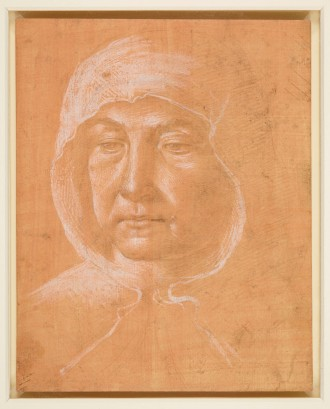 Domenico Ghirlandaio, Woman wearing a hood, c.1485-90. The Royal Collection, Windsor