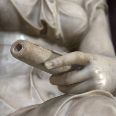 Detail of the Allegory of Architecture. Photo: Opera di Santa Croce