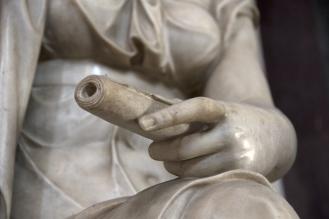 Detail of the Allegory of Architecture. Photo: Opera di Santa Croce