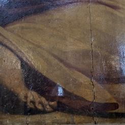 Deatil of damage. Photo: Opera di Santa Croce