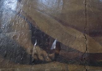 Detail of damage. Photo: Opera di Santa Croce