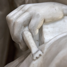 Detail of the Allegory of Sculpture. Photo: Opera di Santa Croce
