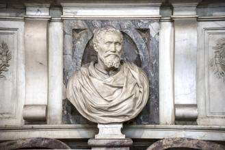 Bust of Michelangelo. Photo: Opera di Santa Croce