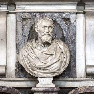 Bust of Michelangelo. Photo: Opera di Santa Croce