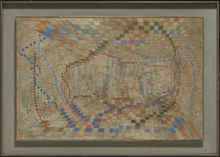 The Tiled Room 1935 by Maria Helena Vieira da Silva 1908-1992