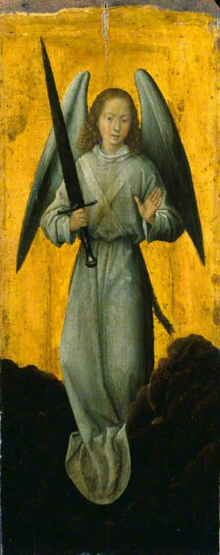 Memling, Hans, 1430-1440-1494; Angel with a Sword