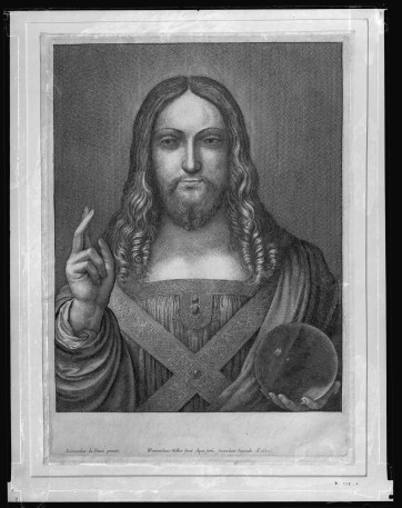 Wenceslaus Hollar, Salvator Mundi, after Leonardo da Vinci, 1650. Royal Collection, Windsor. Courtesy Royal Collection Trust / © Her Majesty Queen Elizabeth II 2017