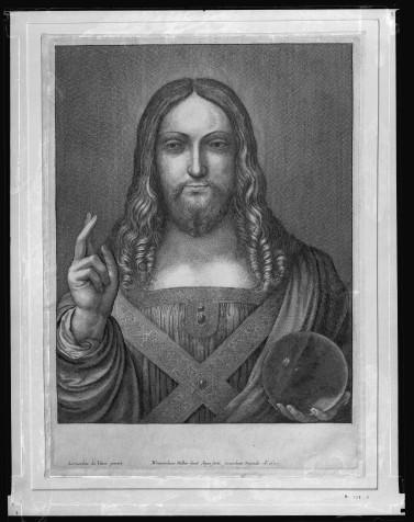 Wenceslaus Hollar, Salvator Mundi, after Leonardo da Vinci, 1650. Royal Collection, Windsor. Courtesy Royal Collection Trust / © Her Majesty Queen Elizabeth II 2017