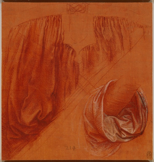 Leonardo da Vinci, Drapery studies for the Salvator Mundi, c.1500. Royal Collection, Windsor. Courtesy Royal Collection Trust / © Her Majesty Queen Elizabeth II 2017