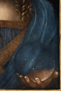 Detail of the Salvator Mundi. © Christie's